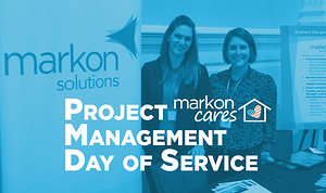 Markon Cares booth at 2019 PM Day of Service